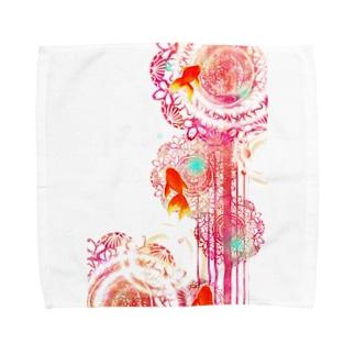 夏空金魚 Towel handkerchiefs