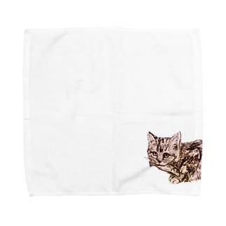 お魚くわえた野良猫 Towel handkerchiefs