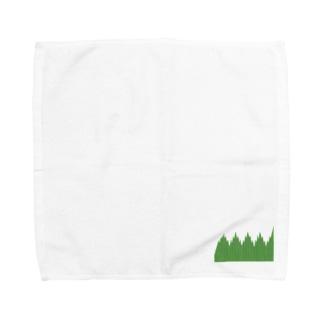 弁当のおかずを仕切る緑のやつ Towel handkerchiefs