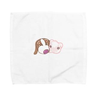 わんぶたワンポイント Towel handkerchiefs