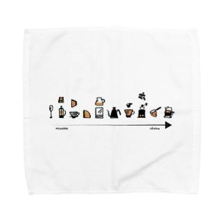 コーヒーotakuへの道。 Towel handkerchiefs