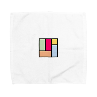 minato128のカラフル四畳半 タオルハンカチ