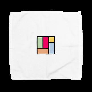minato128のカラフル四畳半 Towel handkerchiefs