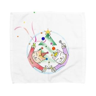 ごま と しま Towel handkerchiefs