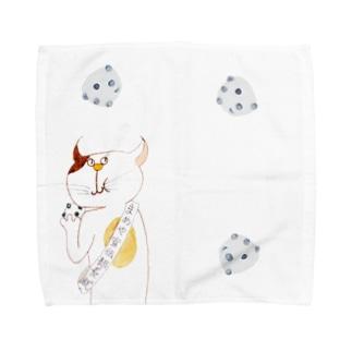 きのうのアイツ まめやver. Towel handkerchiefs