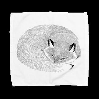 segasworksのねたふりきつね Towel handkerchiefs