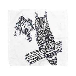 トラフズク Towel handkerchiefs