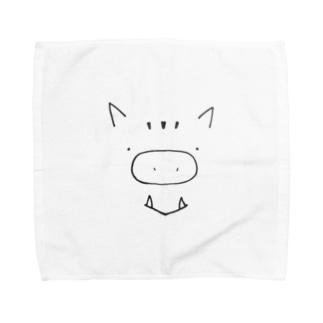 いのししさん Towel handkerchiefs