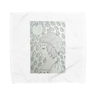林檎の木と少女 Towel handkerchiefs