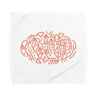 オレンジのなんか Towel handkerchiefs