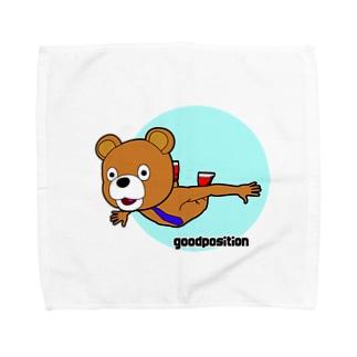 フライング クマ Towel handkerchiefs