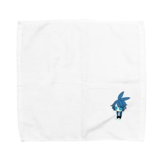 青い泣き虫うさぎ Towel handkerchiefs