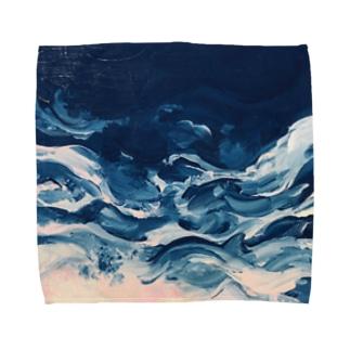 よるの波 Towel handkerchiefs