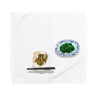 魯肉飯と空心菜の炒め物 Towel handkerchiefs