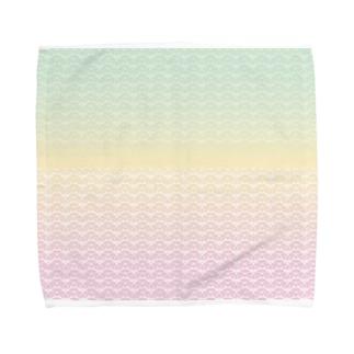 ヒゲメガネのレンサ Towel handkerchiefs
