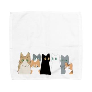 みんなネコチャン Towel handkerchiefs