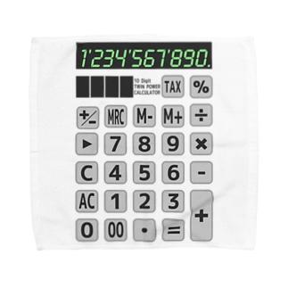 電卓 Calculator Towel handkerchiefs