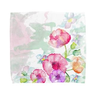 Flower +1 Towel handkerchiefs