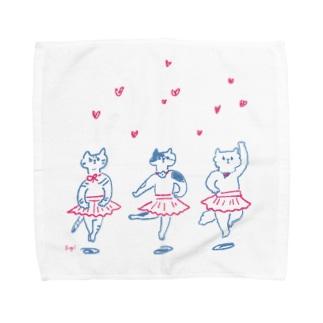 バレリーナネコ Towel handkerchiefs