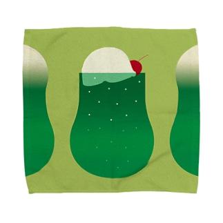 メロンソーダ Towel handkerchiefs