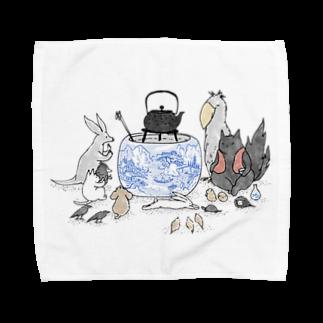 石川ともこのじんわり火鉢 Towel handkerchiefs