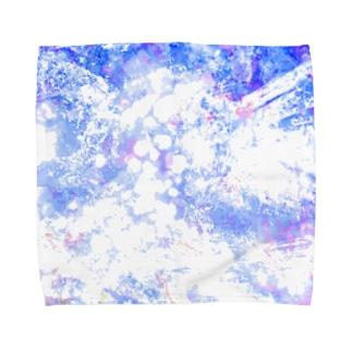 青いキラキラ。 Towel handkerchiefs