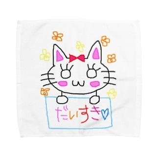 はぴねこ Towel handkerchiefs
