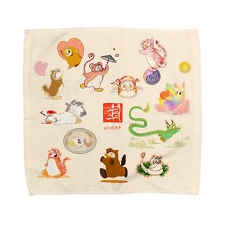 【L推奨】着ぐるみ干支ぺんぎん・十二支 Towel handkerchiefs