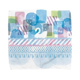白鳥の湖 Towel handkerchiefs