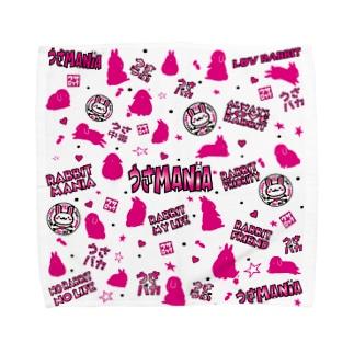 うさMANIAタオル Towel handkerchiefs