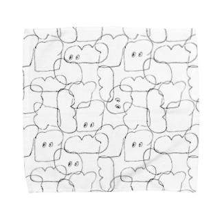 パン Towel handkerchiefs