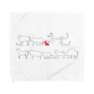 十二支(卯) Towel handkerchiefs