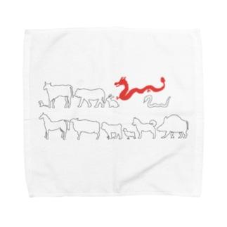 十二支(辰) Towel handkerchiefs