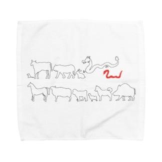 十二支(巳) Towel handkerchiefs