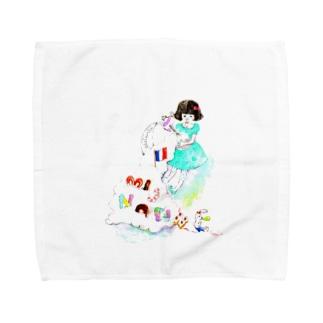 ミニョンヌちゃんとうさぎ Towel handkerchiefs