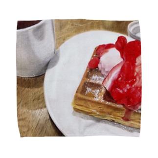 Strawberry waffle  Towel handkerchiefs