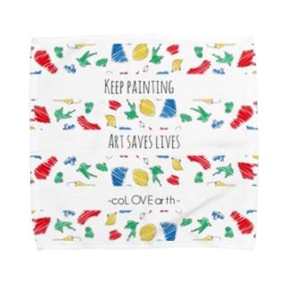 keep painting Towel handkerchiefs