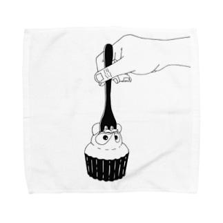 たぬきケーキめぐり公式 Towel handkerchiefs