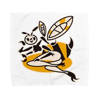 蜂ガール タオルハンカチ