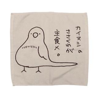 美声なインコのメルくん Towel handkerchiefs