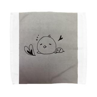 おねぼけ親子 Towel handkerchiefs