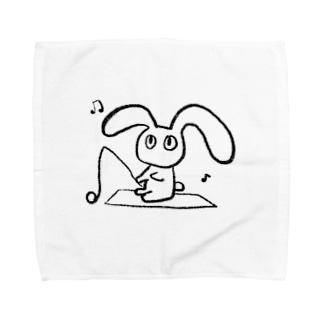 わきたの釣りうさ Towel handkerchiefs
