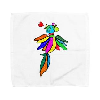 世界を跨ぐ鳥 Towel handkerchiefs