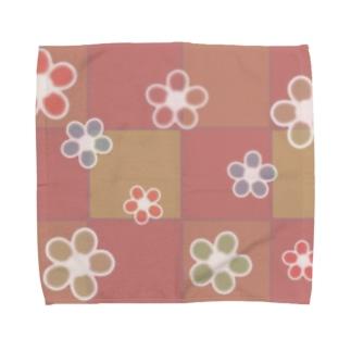 和花柄 Towel handkerchiefs