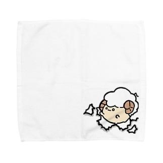 突き破るひつじさん(・ェ・@ Towel handkerchiefs