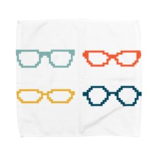 4色めがね Towel handkerchiefs