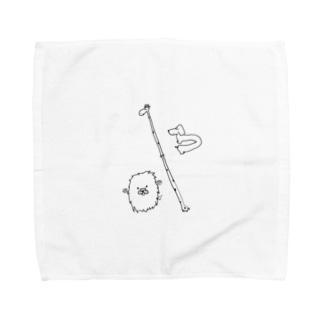 誇張した動物 Towel handkerchiefs