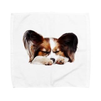 パピヨン(ランボ) Towel handkerchiefs