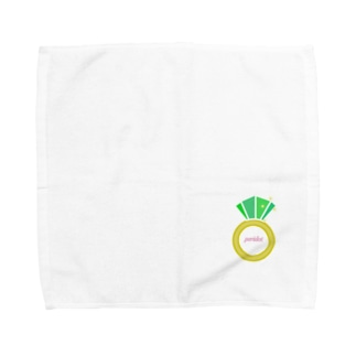 誕生石シリーズ(8月・ペリドット) Towel handkerchiefs