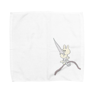 チーズ・ププのちくちくお裁縫ウサギ Towel handkerchiefs